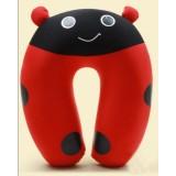 wholesale - Comfort Foam Particles U Neck Travel Pillow Cute Cartoon Pattern - Ladybug