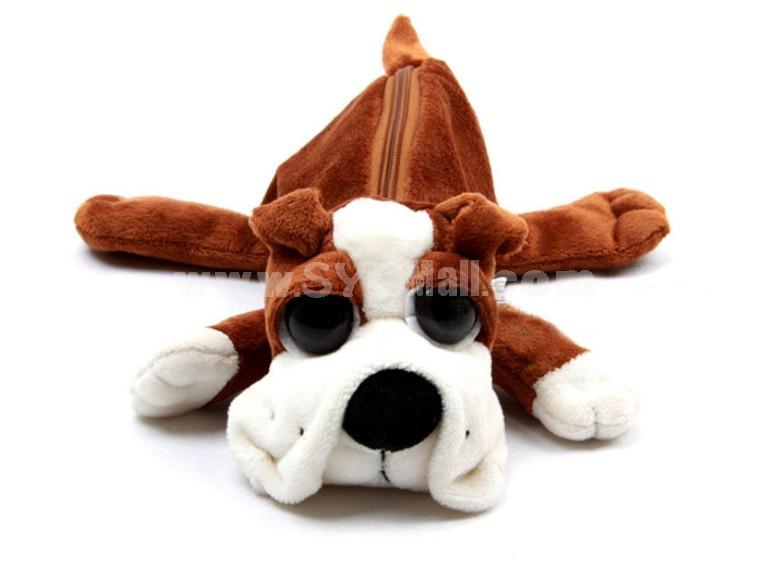 Big Eye Dog Plush Storage Bag