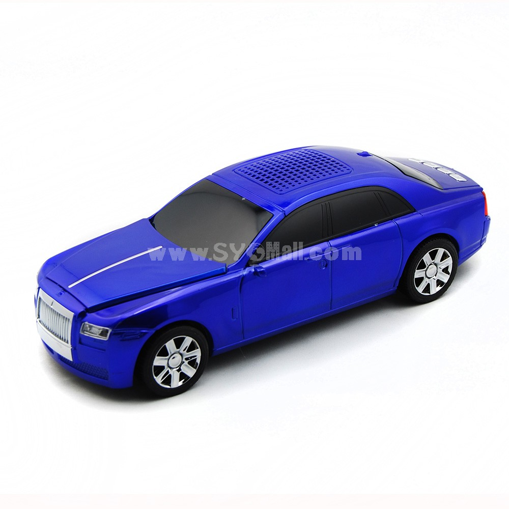 Car Model Speaker with FM Radio and LED Display Supports MicroSD Card - Luxury Car