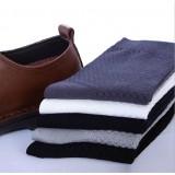 Wholesale - LR Summer Thin Antibacterial Bamboo Socks Business Casual Men's Long Socks 10Pairs/Lot(20PCs) One Color
