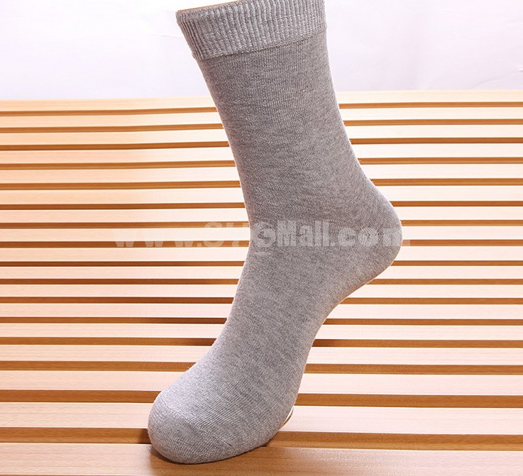 Free Shipping Classic Soild Color Cotton Business Casual Men's Long Socks Wholesale 20Pairs/Lot One Color