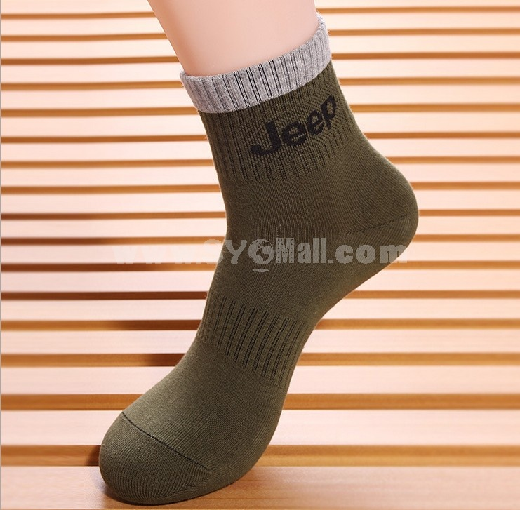 Free Shipping Letter Printed Normal Soild Color Cotton Business Casual Men's Long Socks Wholesale 20Pairs/Lot One Color