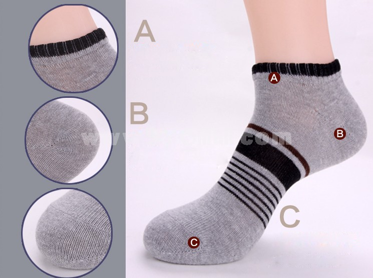 Free Shipping Summer Men's Invisible Girds Pattern Causal Ankle Socks Boat Socks 20 Pairs/Lot One Color