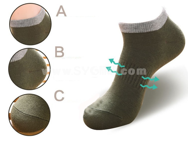Free Shipping Summer Men's Invisible Soild Color Sports Causal Ankle Socks Boat Socks 20 Pairs/Lot One Color