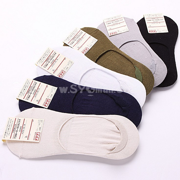 Free Shipping Summer Classic Men's Invisible Soild Color Causal Cotton Ankle Socks Boat Socks 20 Pairs/Lot One Color