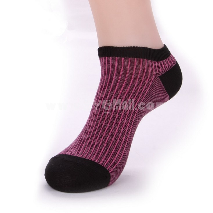 Free Shipping Summer Stripe Pattern Men's Invisible Soild Color Causal Cotton Ankle Socks Boat Socks 12 Pairs/Lot One Color