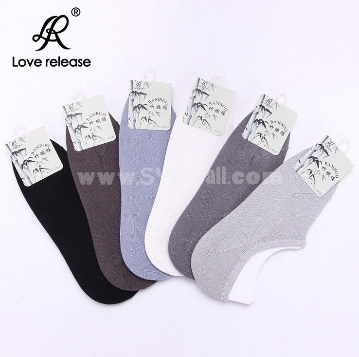 Free Shipping Hot Sale Summer Men's Invisible Soild Color Bamboo Causal Cotton Ankle Socks Boat Socks 10 Pairs/Lot One Color