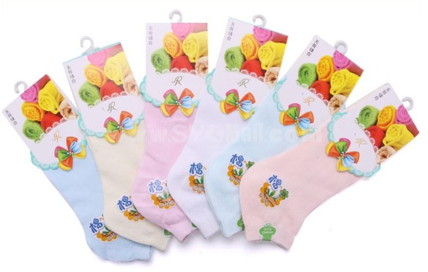 Free Shipping Soild Color Women LR Cute Cotton Socks 10Pairs/Lot