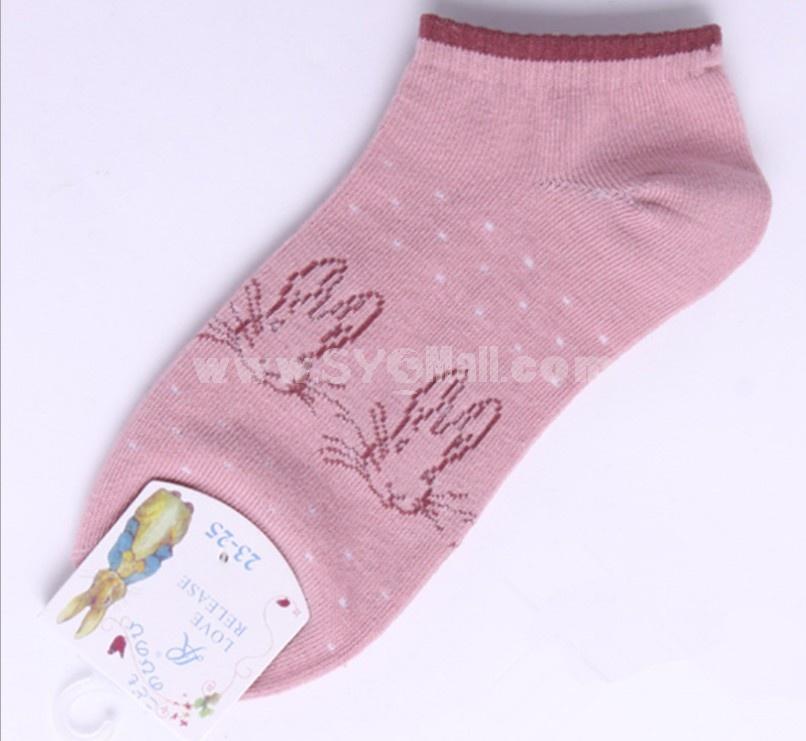 Free Shipping Cute Cartoon Women LR Cute Cotton Socks 20Pairs/Lot One Color