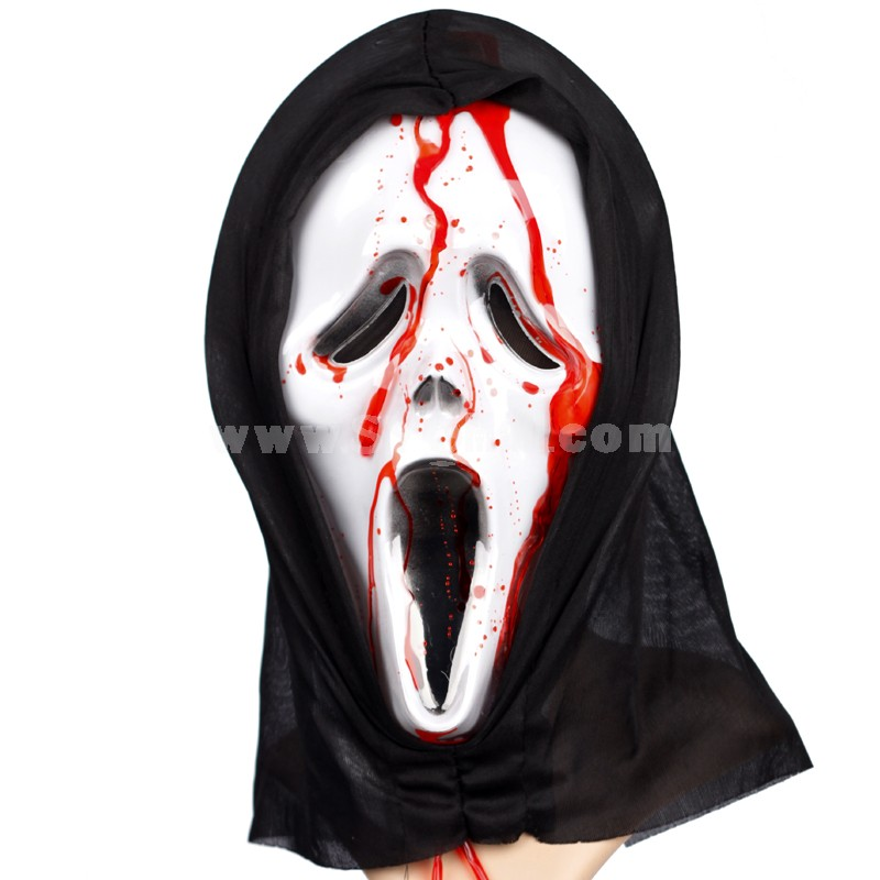 Horrible Halloween/Custume Party Mask Gost Mask with Blood Capsule Full Face