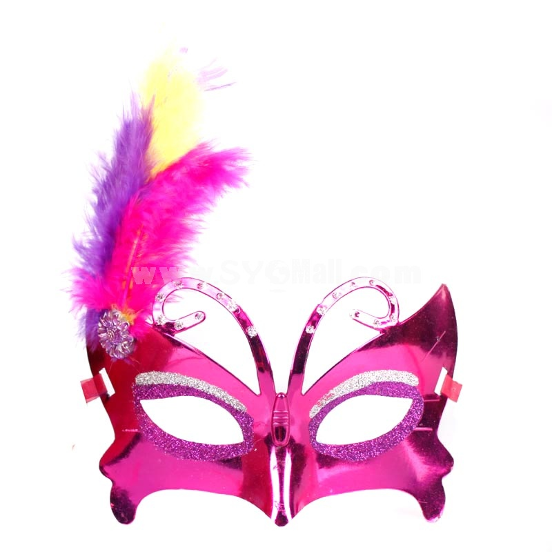 5pcs Halloween/Custume Party Mask Monster Mask Butterfly Feather Mask Half Face