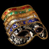 Wholesale - 4pcs Halloween/Custume Party Mask Male Mask with Sequins Half Face