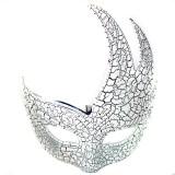 Wholesale - 2pcs Halloween/Custume Party Mask Flame Crack Mak Half Face