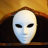 Wholesale - Halloween/Custume Party Mask Doodled White Mask Environmental Paper 60g