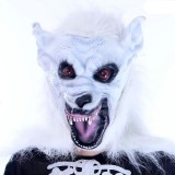 Wholesale - Halloween/Custume Party Mask White Wolf Mask Cosplay Mask Full Face