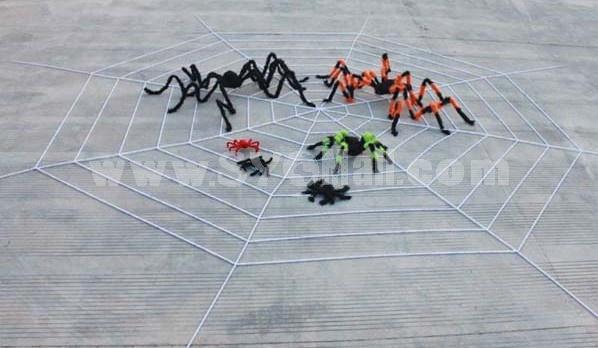 Creative Holloween Black Lint Spider 2M