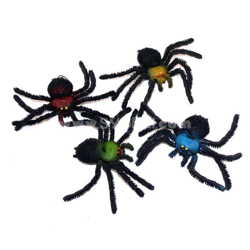 Creative Holloween Prank Toys PE Simulation of Spider 5PCs