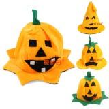 Wholesale - Creative Holloween Lint Pumpkin Hat