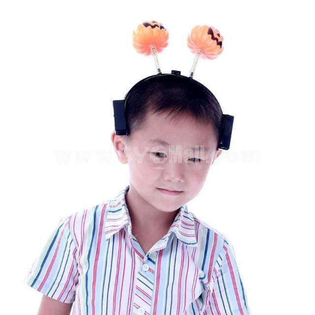 Creative Holloween Lighting Pumpkin Headpiece 2PCs