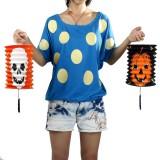 Wholesale - Creative Holloween Column Pumpkin Lantern 2PCs