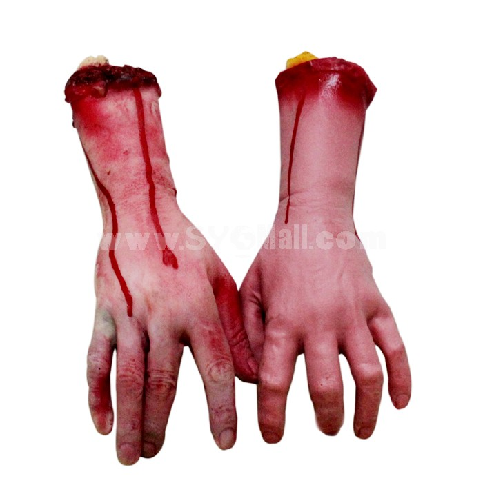 Creative Holloween Horrible Trick Toys Amputated Limb Bloody Hand Middle Size 2PCs