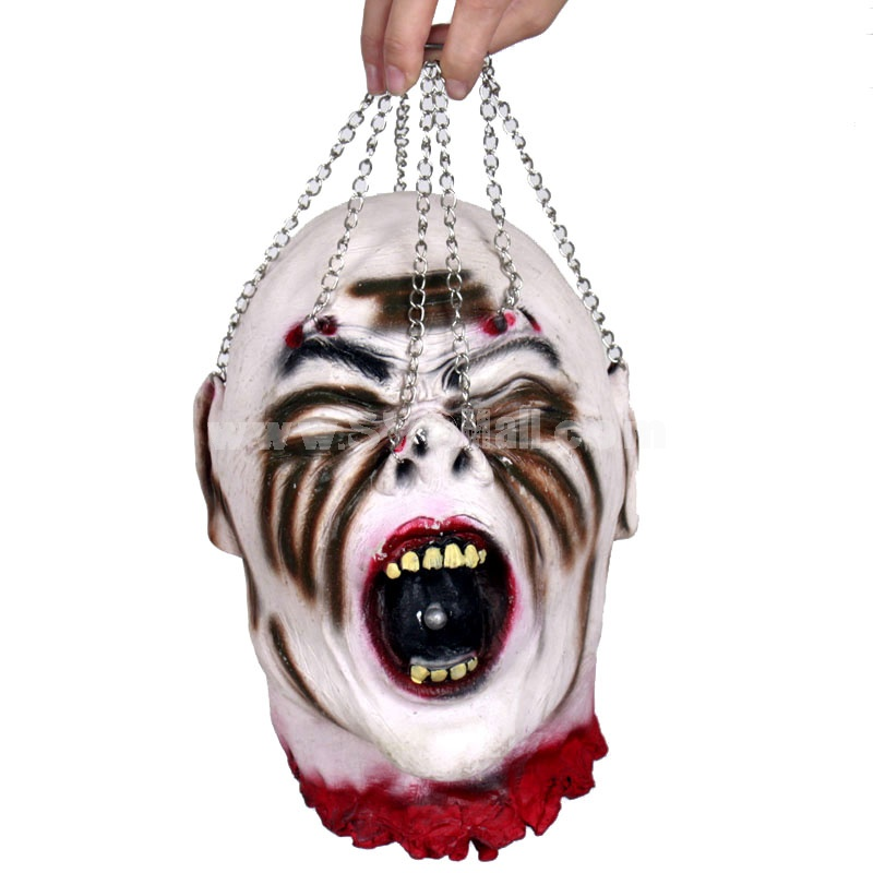 Creative Holloween Bar Décor Trick Toy Bloody Chain Hanging Head