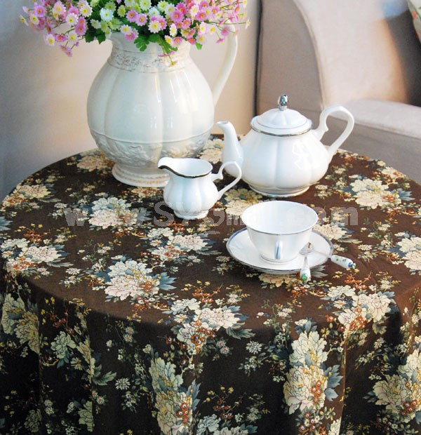 Stylish Vintage Style Square Flax Tablecloth