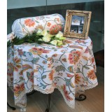 Wholesale - Stylish Vintage Style Square Flax Tablecloth