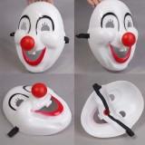 Wholesale - Halloween/Christmas Masquerade Mask Custume Mask - Plastic Simple Clown Mask (No Wig)
