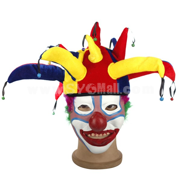 Halloween/Christmas Masquerade Mask Custume Mask -- Latex Clown Mask Clown Hat