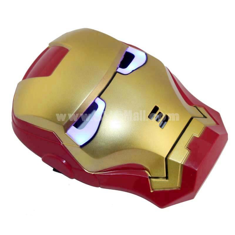 Halloween/Christmas Masquerade Mask Custume Mask -- Luminous Iron Man Mask