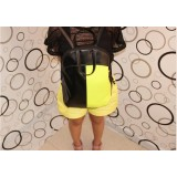 Wholesale - Preppy Style Fluorescence Color Contrast PU Backpack