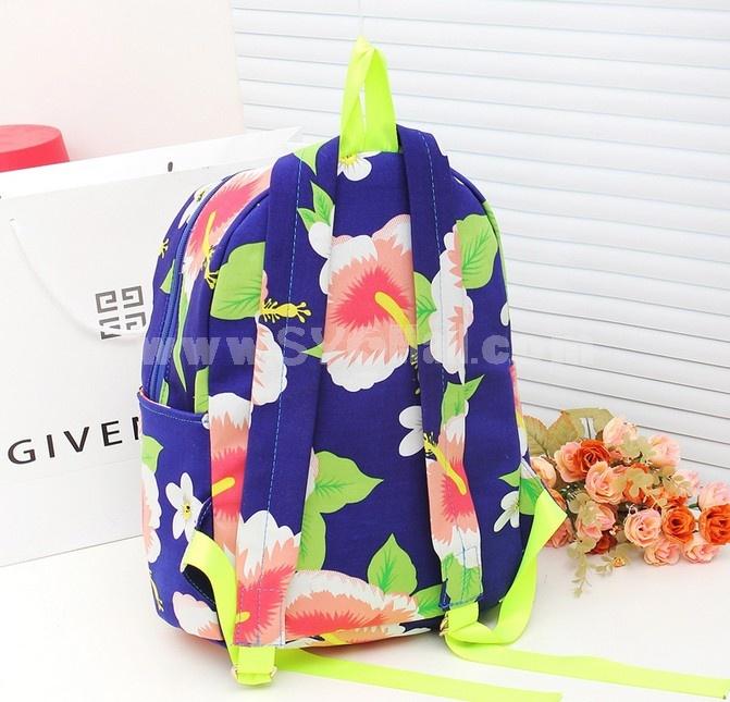 Flower Painted Vintage Backpack Female