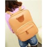 Wholesale - Korean Cute Bear Pattern PU Backpack