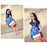 Wholesale - Fashion Skull Painted Candy Color Backpack Schoolbag