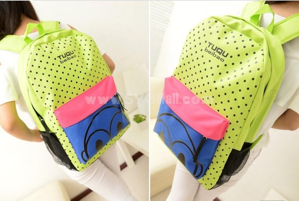 Harajuku Style Vintage Pot Design Backpack Schoolbag