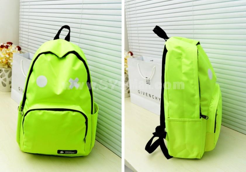 Hot Sale OX Korean Robot Fluorescence Color Backpack Schoolbag