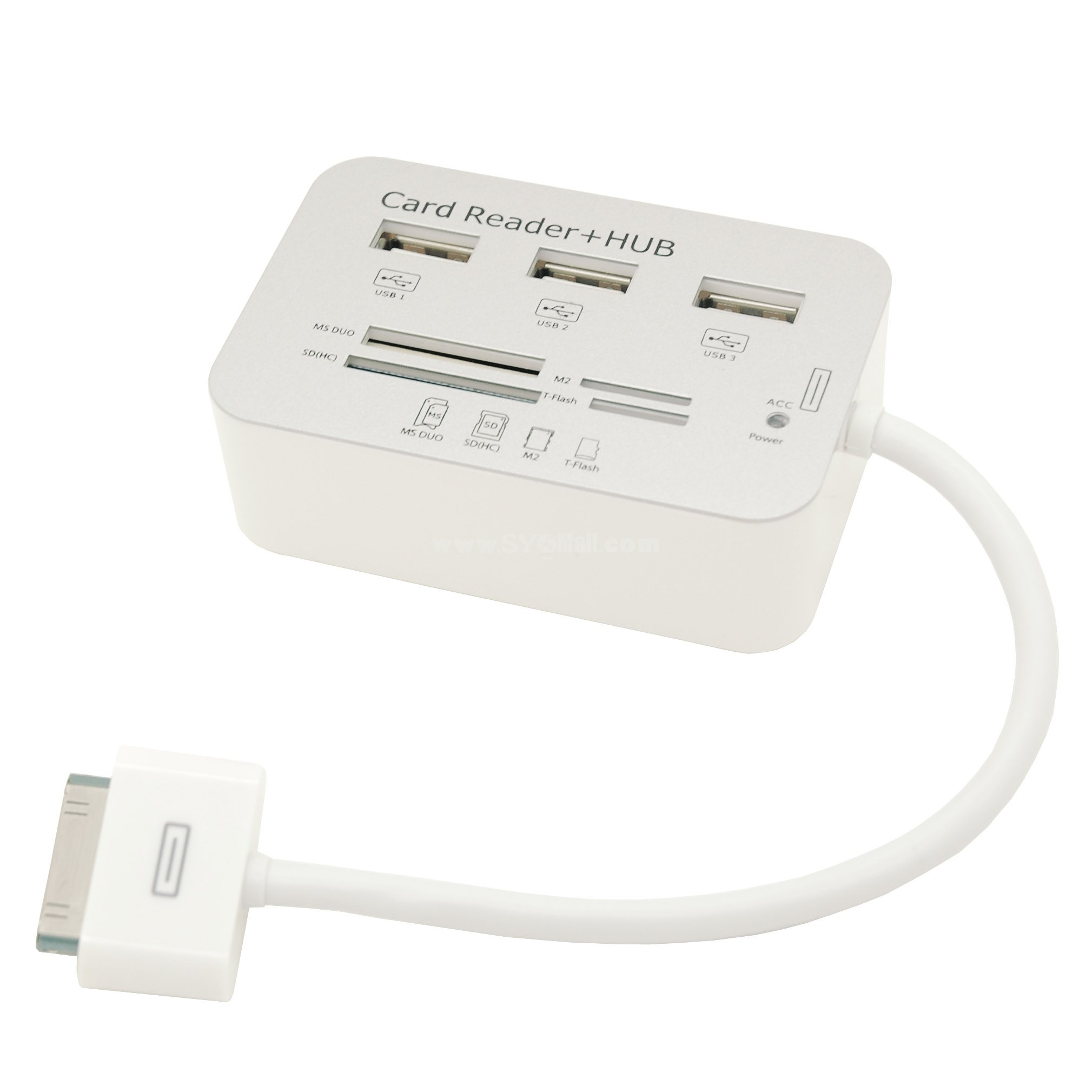 Multifunctional USB Hub with 4-in-1 Card Reader (TF SD MS M2) for iPad
