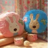 Wholesale - Cute Cartoon Le sucre Rabbit Pola Fleece Multi-function Blanket Air-condition Blanket Cushion