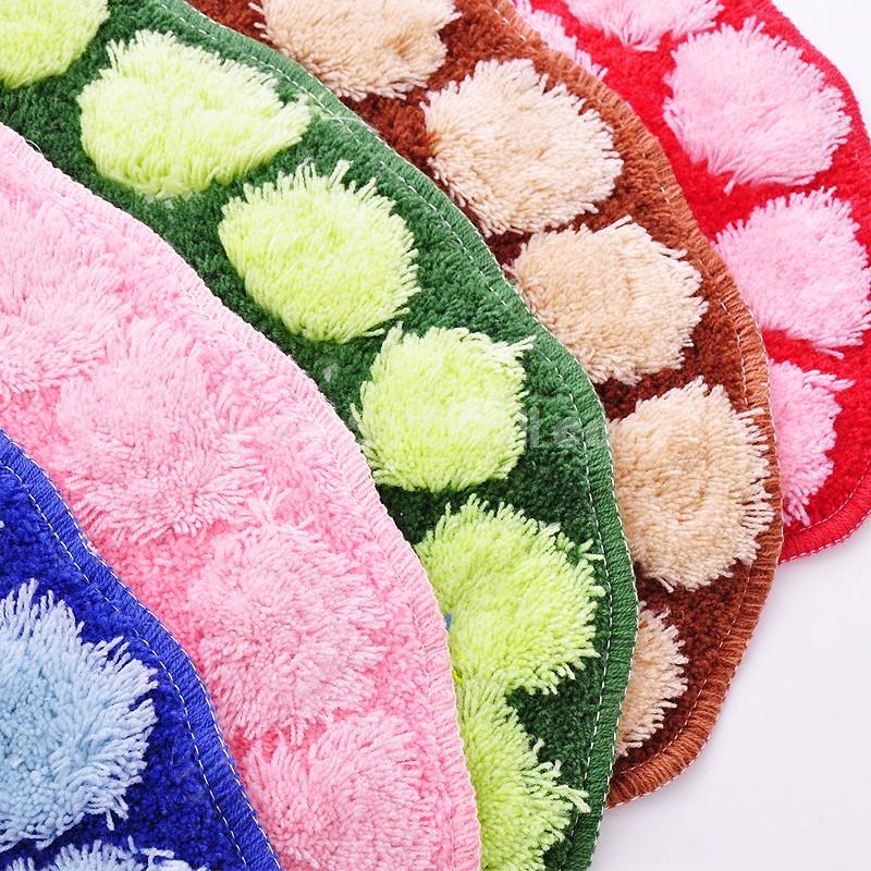 Cute Foot Pattern Lint Bathroom Non-Slip Mat D247 61*39*1CM