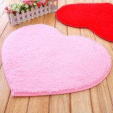 Wholesale - Polyester Fiber Heart Pattern Door Mat Bathroom Non-Slip Mat Small Size E283 60*50CM
