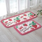 Wholesale - Cute Strawberry & Cherry Non-Slip Acrylic Mat E588 Long Pattern 110*45cm