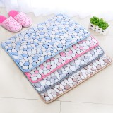 Wholesale - CORAL FLEECE Rock Pattern Memory Foam Water Absorption Bathroom Non-Slip Mat Door Mat E145 60*41Cm
