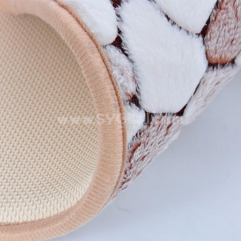 CORAL FLEECE Rock Pattern Memory Foam Water Absorption Bathroom Non-Slip Mat Door Mat E145 60*41Cm