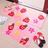 Wholesale - Cute Strawberry Pattern Non-Slip Door Mat D263 Large Size 110*45cm