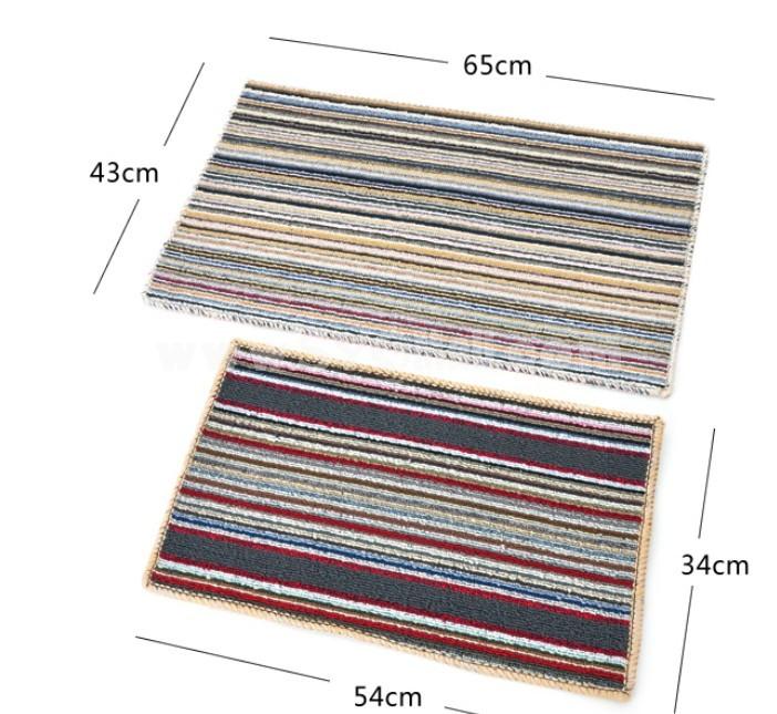 Latex Color Stripe Thick Non-Slip Mat Small Size D155 34*54CM