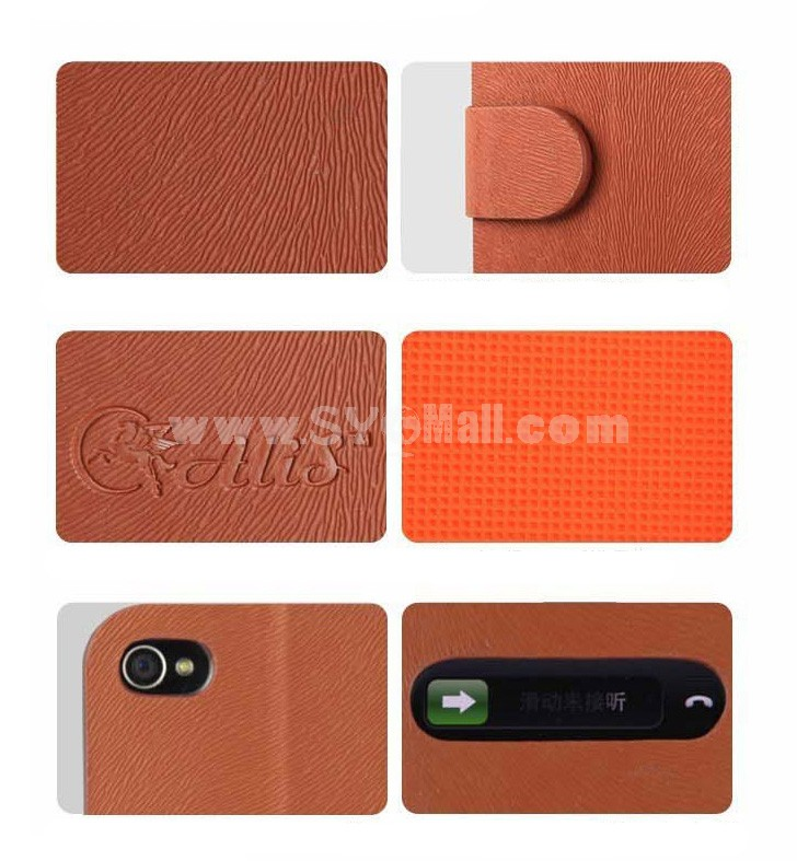 Stylish Fahion Flip Case Cover Protector Skin for iPhone 4/4s