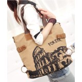 Wholesale - Stylish Charming Printing Pattern Canvas Casual Shoulder Bag DL724