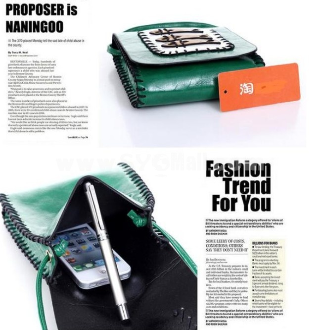 Charming Stylish PU Fish Pattern Bag Shoulder Bag Messenger Bag DL193
