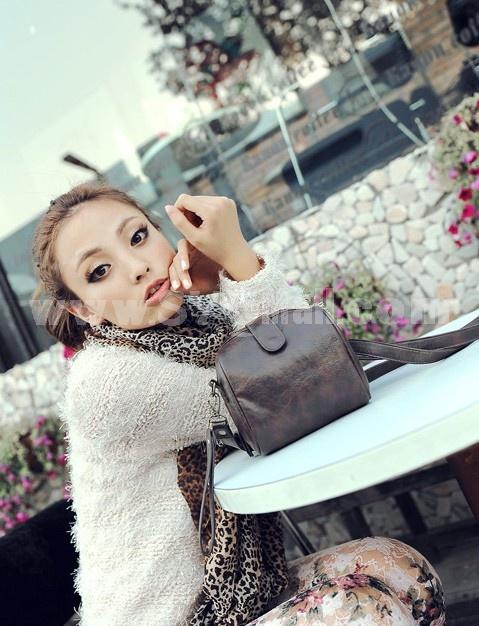 Charming Stylish PU Simple LOMO Pattern Bag Shoulder Bag Messenger Bag DL102